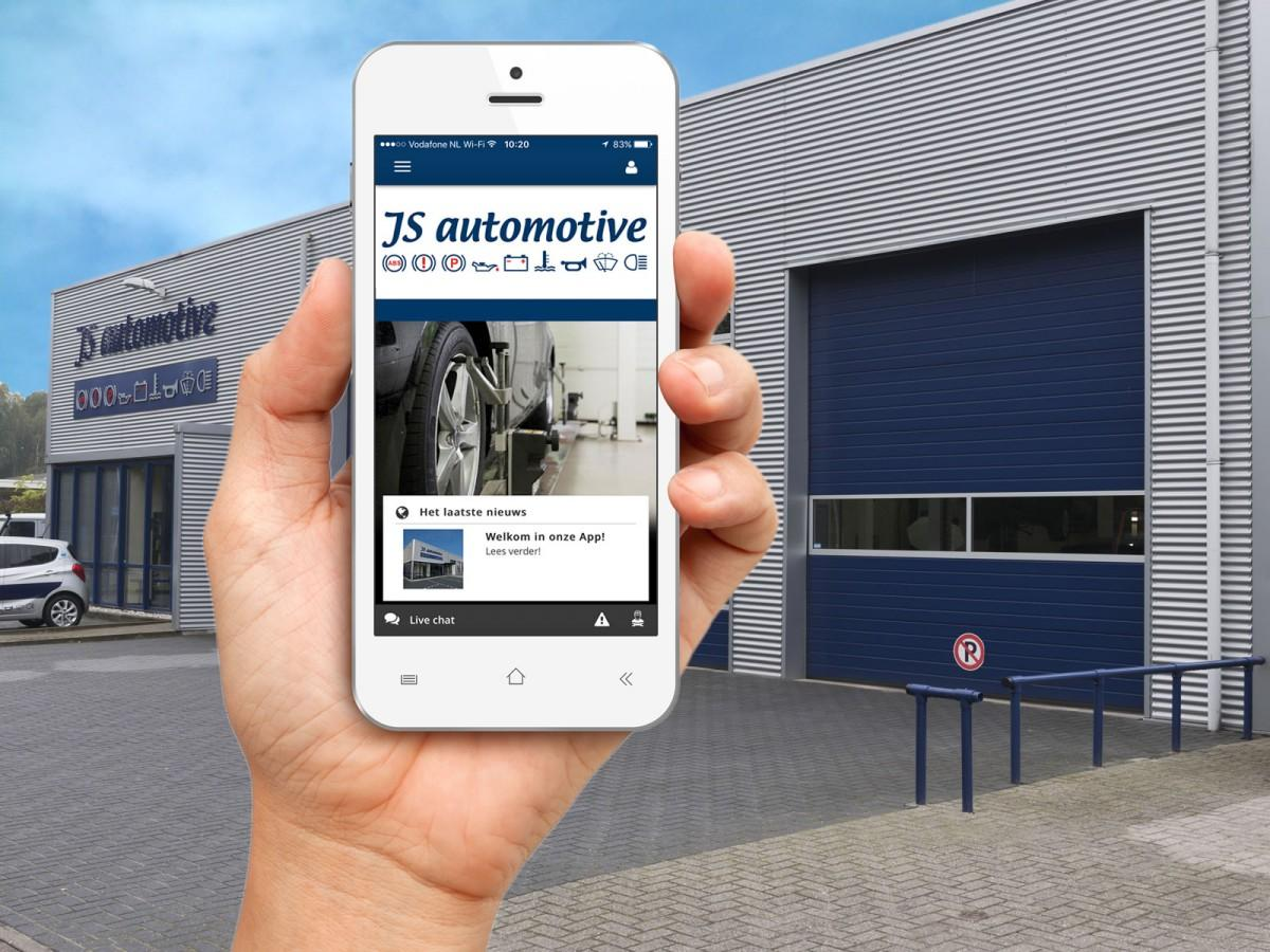 Js Automotive - download onze app!